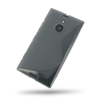 Nokia Lumia 1520 Soft Case (Grey S Shape pattern) PDair Premium Hadmade Genuine Leather Protective Case Sleeve Wallet