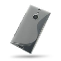 Nokia Lumia 1520 Soft Case (Translucent S Shape pattern) PDair Premium Hadmade Genuine Leather Protective Case Sleeve Wallet