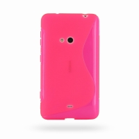 Nokia Lumia 625 Soft Case (Pink S Shape pattern) PDair Premium Hadmade Genuine Leather Protective Case Sleeve Wallet