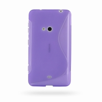 Nokia Lumia 625 Soft Case (Purple S Shape pattern) PDair Premium Hadmade Genuine Leather Protective Case Sleeve Wallet