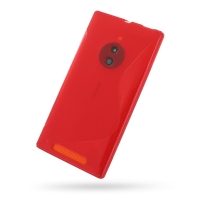 Soft Plastic Case for Nokia Lumia 830 (Red S Shape Pattern)