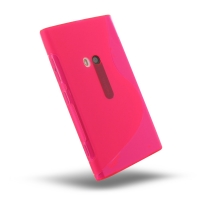 Nokia Lumia 920 Soft Case (Pink S Shape pattern) PDair Premium Hadmade Genuine Leather Protective Case Sleeve Wallet