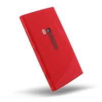 Nokia Lumia 920 Soft Case (Red S Shape pattern) PDair Premium Hadmade Genuine Leather Protective Case Sleeve Wallet