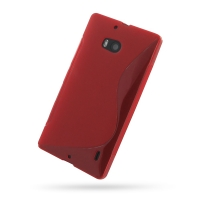 Soft Plastic Case for Nokia Lumia 930 (Red S Shape Pattern)