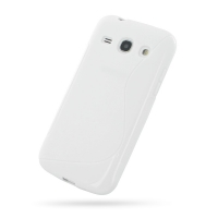 Soft Plastic Case for Samsung Galaxy Core Plus SM-G3500 / Galaxy Trend 3 SM-G3502 (White S Shape Pattern)