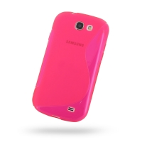 Soft Plastic Case for Samsung Galaxy Express GT-i8730 (Petal Pink S Shape Pattern)