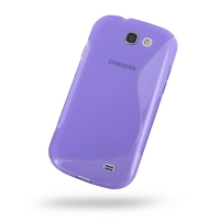 Soft Plastic Case for Samsung Galaxy Express GT-i8730 (Purple S Shape Pattern)