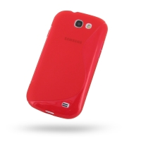 Soft Plastic Case for Samsung Galaxy Express GT-i8730 (Red S Shape Pattern)