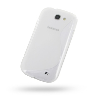 Soft Plastic Case for Samsung Galaxy Express GT-i8730 (Translucent S Shape Pattern)