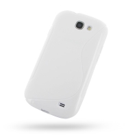 Soft Plastic Case for Samsung Galaxy Express GT-i8730 (White S Shape Pattern)