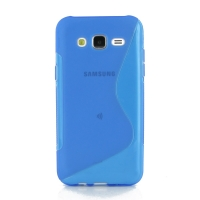Soft Plastic Case for Samsung Galaxy J5 SM-J500F (Blue S Shape pattern)