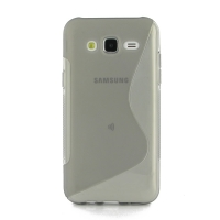 Soft Plastic Case for Samsung Galaxy J5 SM-J500F (Grey S Shape pattern)