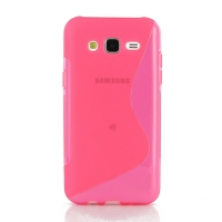 Soft Plastic Case for Samsung Galaxy J5 SM-J500F (Pink S Shape pattern)