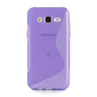 Soft Plastic Case for Samsung Galaxy J5 SM-J500F (Purple S Shape pattern)