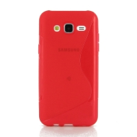Soft Plastic Case for Samsung Galaxy J5 SM-J500F (Red S Shape pattern)