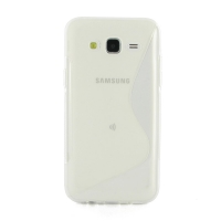 Soft Plastic Case for Samsung Galaxy J5 SM-J500F (Translucent S Shape pattern)