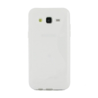 Soft Plastic Case for Samsung Galaxy J5 SM-J500F (White S Shape pattern)