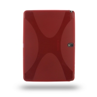 Samsung Galaxy Note 10.1 2014 Edition Soft Case (Red) PDair Premium Hadmade Genuine Leather Protective Case Sleeve Wallet