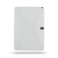 Samsung Galaxy Note 10.1 2014 Edition Soft Case (White) PDair Premium Hadmade Genuine Leather Protective Case Sleeve Wallet