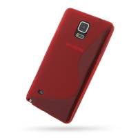 Soft Plastic Case for Samsung Galaxy Note 4 | Samsung Galaxy Note4 | SM-N910 (Red S Shape Pattern)