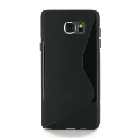 Soft Plastic Case for Samsung Galaxy Note 5 | Samsung Galaxy Note5 (Black S Shape pattern)
