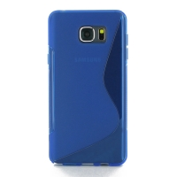 Soft Plastic Case for Samsung Galaxy Note 5 | Samsung Galaxy Note5 (Blue S Shape pattern)