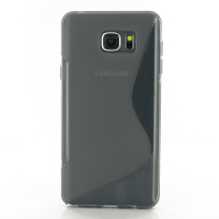 Soft Plastic Case for Samsung Galaxy Note 5 | Samsung Galaxy Note5 (Grey S Shape pattern)