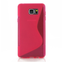 Soft Plastic Case for Samsung Galaxy Note 5 | Samsung Galaxy Note5 (Pink S Shape pattern)