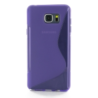 Soft Plastic Case for Samsung Galaxy Note 5 | Samsung Galaxy Note5 (Purple S Shape pattern)