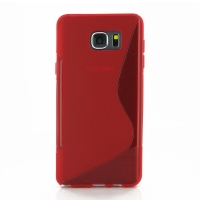 Soft Plastic Case for Samsung Galaxy Note 5 | Samsung Galaxy Note5 (Red S Shape pattern)