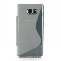 Soft Plastic Case for Samsung Galaxy Note 5 | Samsung Galaxy Note5 (Translucent S Shape pattern)
