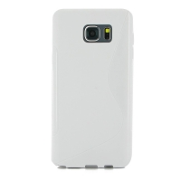 Soft Plastic Case for Samsung Galaxy Note 5 | Samsung Galaxy Note5 (White S Shape pattern)