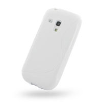 Samsung Galaxy S3 Mini Soft Case (White S Shape pattern) PDair Premium Hadmade Genuine Leather Protective Case Sleeve Wallet