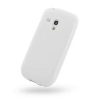 Soft Plastic Case for Samsung Galaxy S III S3 Mini GT-i8190 (White S Shape Pattern)