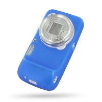 Soft Plastic Case for Samsung Galaxy S4 zoom SM-C1010 (Blue)
