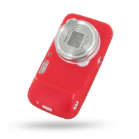 Soft Plastic Case for Samsung Galaxy S4 zoom SM-C1010 (Red)