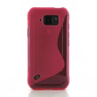 Soft Plastic Case for Samsung Galaxy S6 Active SM-G890 (Pink S Shape pattern)