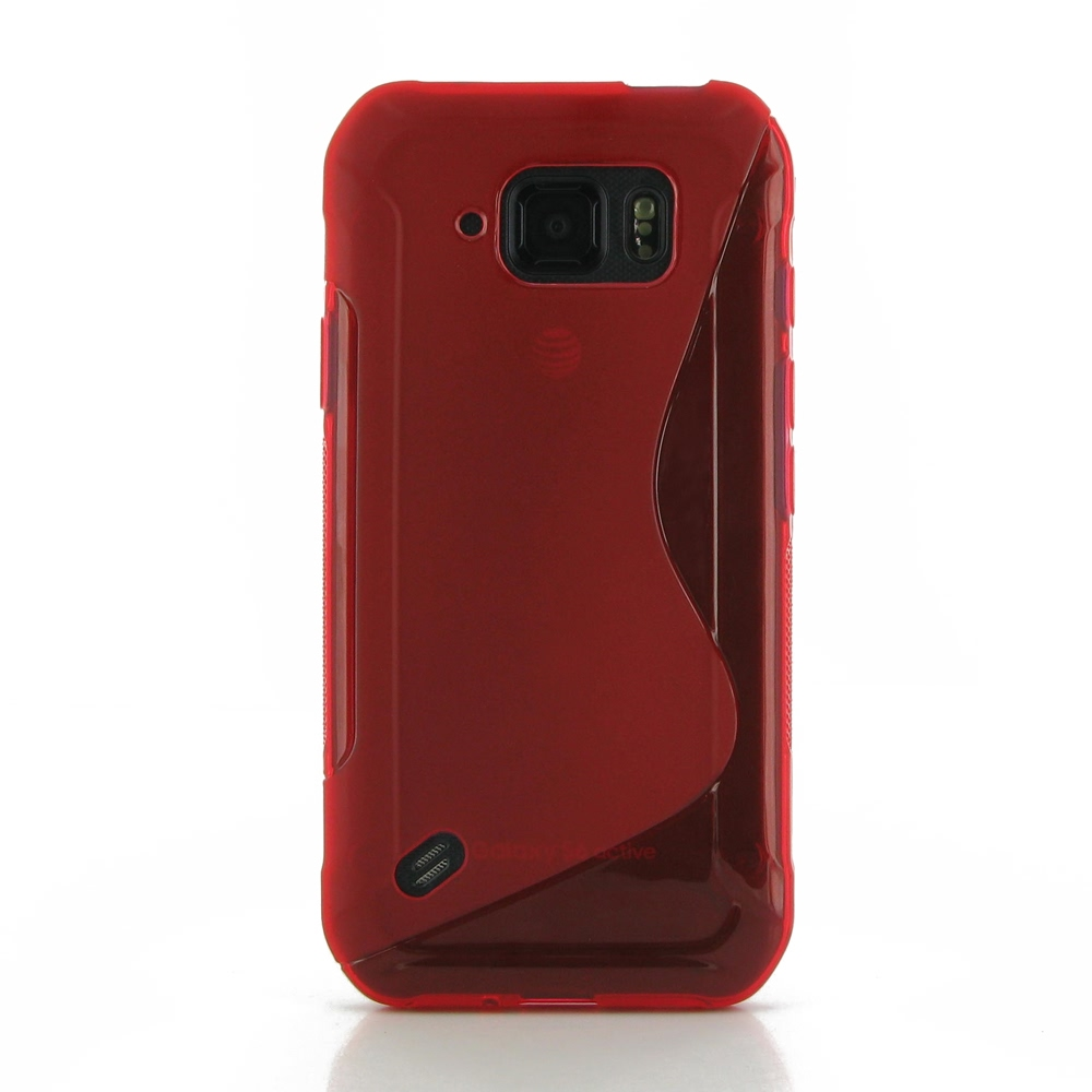 samsung galaxy s6 active soft case (red s shape pattern) pdair