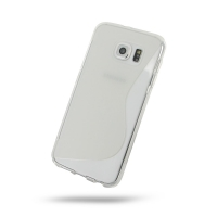 Soft Plastic Case for Samsung Galaxy S6 (Translucent S Shape Pattern)