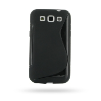Soft Plastic Case for Samsung Galaxy Win Duos GT-i8550 GT-i8552 (Black S Shape Pattern)