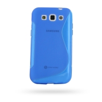 Soft Plastic Case for Samsung Galaxy Win Duos GT-i8550 GT-i8552 (Blue S Shape Pattern)