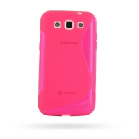 Soft Plastic Case for Samsung Galaxy Win Duos GT-i8550 GT-i8552 (Pink S Shape Pattern)