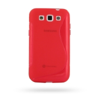 Soft Plastic Case for Samsung Galaxy Win Duos GT-i8550 GT-i8552 (Red S Shape Pattern)