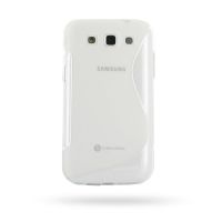 Soft Plastic Case for Samsung Galaxy Win Duos GT-i8550 GT-i8552 (Translucent S Shape Pattern)