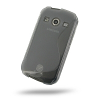 Soft Plastic Case for Samsung Galaxy Xcover 2 GT-S7710 (Grey S Shape Pattern)