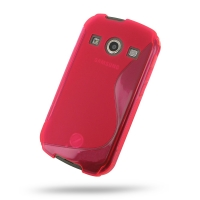 Soft Plastic Case for Samsung Galaxy Xcover 2 GT-S7710 (Red S Shape Pattern)