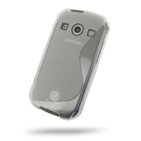 Soft Plastic Case for Samsung Galaxy Xcover 2 GT-S7710 (Translucent S Shape Pattern)