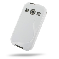 Soft Plastic Case for Samsung Galaxy Xcover 2 GT-S7710 (White S Shape Pattern)