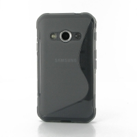 Soft Plastic Case for Samsung Galaxy Xcover 3 SM-G388F (Grey S Shape Pattern)