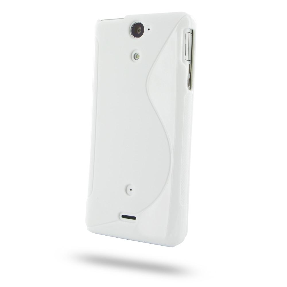 Sony Xperia V Soft Case (White S Shape pattern) :: PDair ...